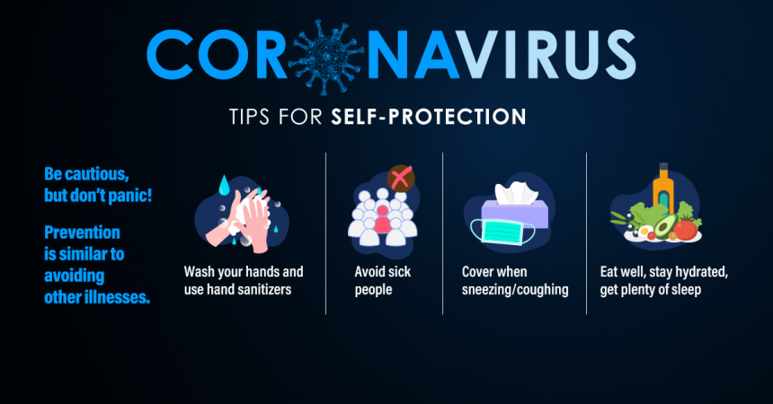 Coronavirus COVID-19 Tips Graphic