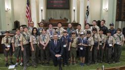 Assemblymember Cooley Photo with the Boy Scouts of America