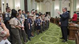 Assemblymember Cooley Addressing the Boy Scouts of America